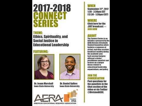 Division A Connect Series: Ethics, Spirituality, and Social