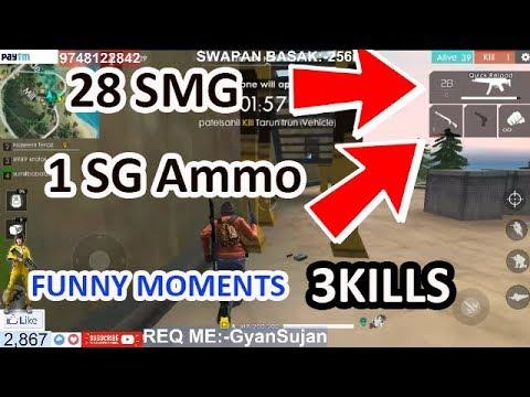 Free Fire Battlegrounds 28 Smg 1sg Funny Moments Hindi বল