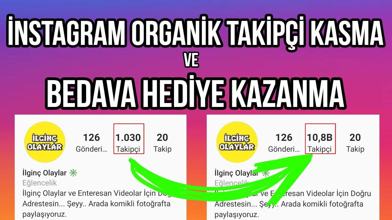 İnstagram Organik Takipçi Kasma 2020 / Bedava Hediye Kazanma [ŞİFRESİZ]