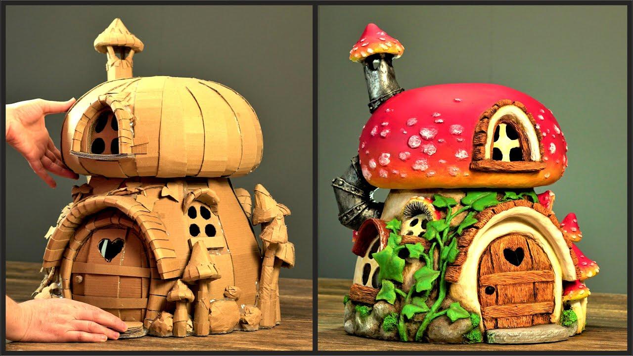 ❣DIY Mushroom House Using Cardboard❣ - YouTube