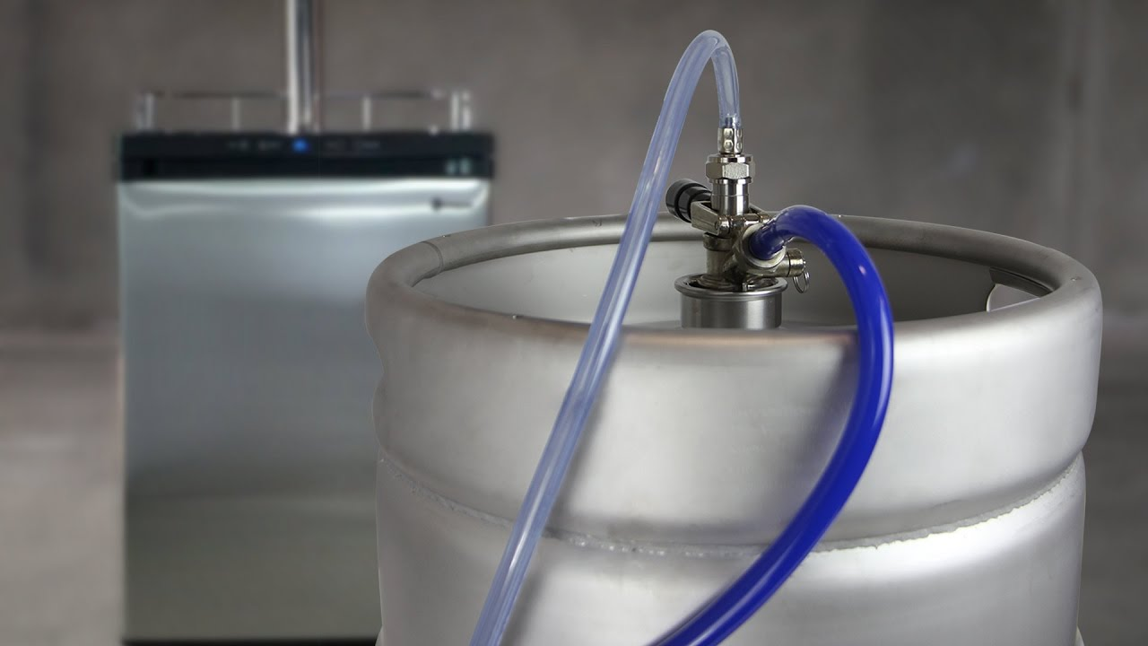 how to tap a keg for your kegerator in your bar or home