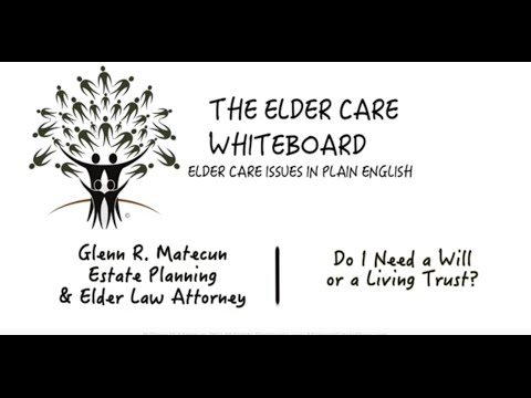 Do I Need a Will or a Living Trust? | Glenn Matecun | Michigan Living Trust Attorney