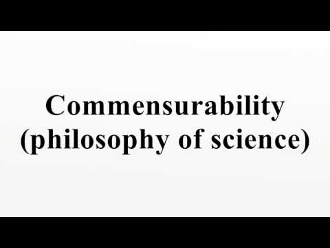 Commensurability (philosophy of science)