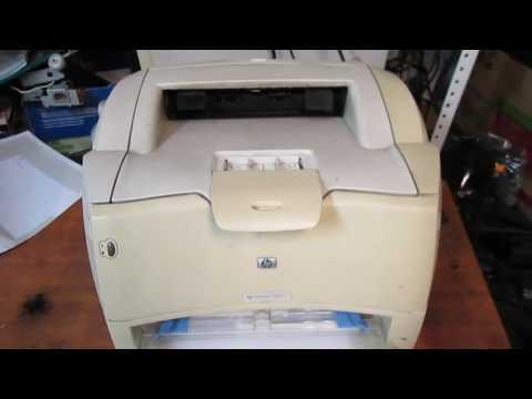 Демонстрация печати принтера HP LaserJet 1300n