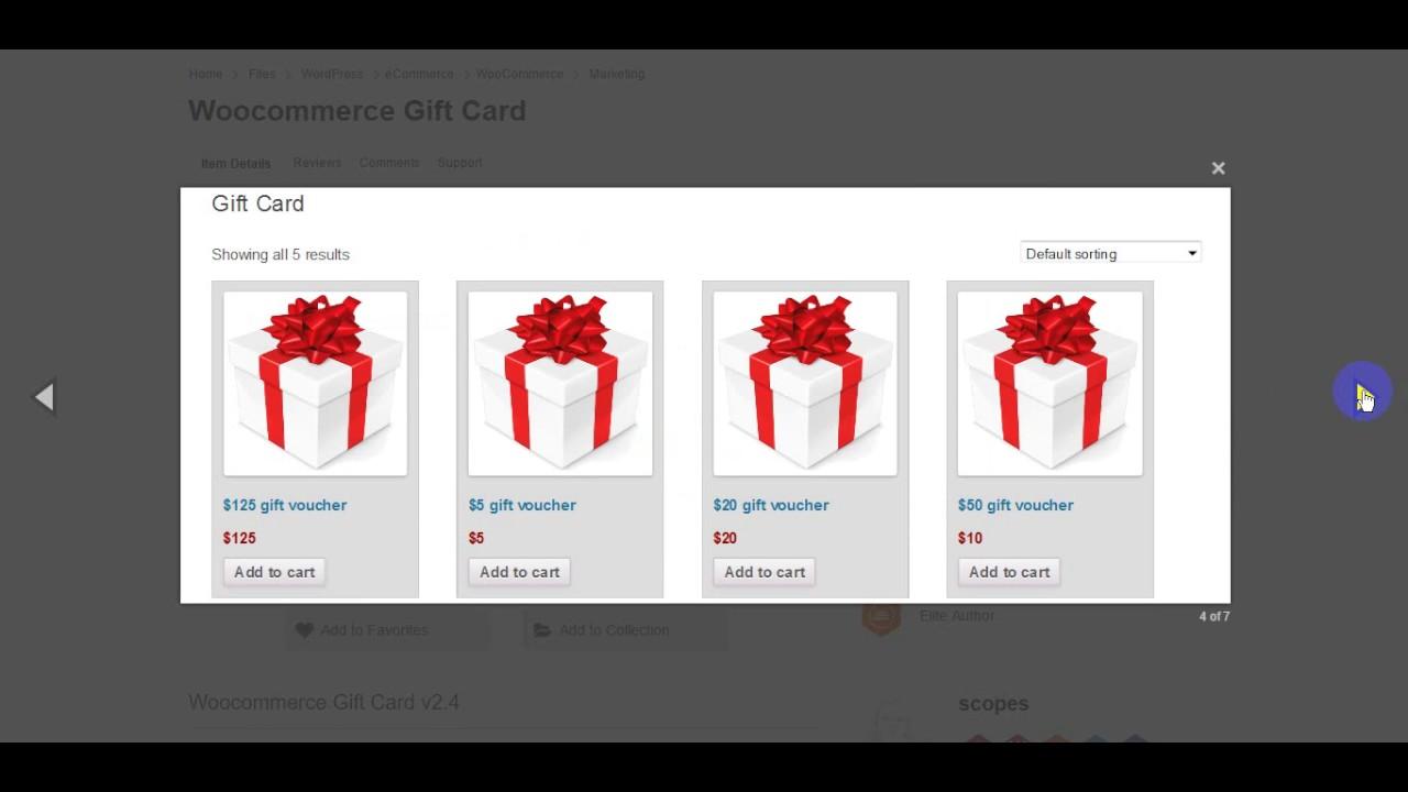 Woocommerce Gift Card Youtube