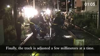 【Tokyo Sakura Tram】Relocation work on train line bound for Minowabashi