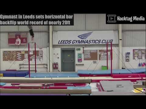download Ashley Watson: Gymnast sets horizontal bar backflip record