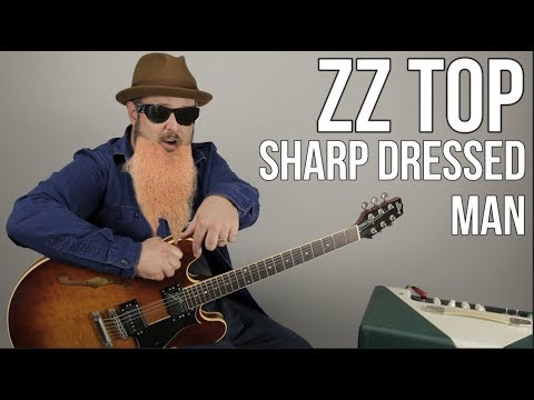 "ZZ Top ""Sharp Dressed Man"" Guitar Lesson - How To Play On Guitar"