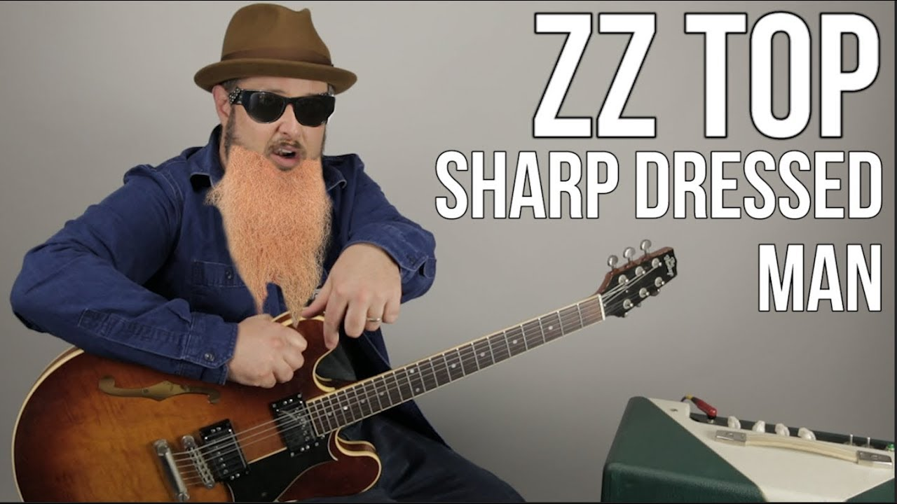 Zz Top Sharp Dressed Man Guitar Lesson How To Play On Guitar