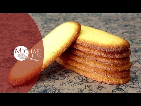 Cat's Tongue Cookies / Langue De Chat