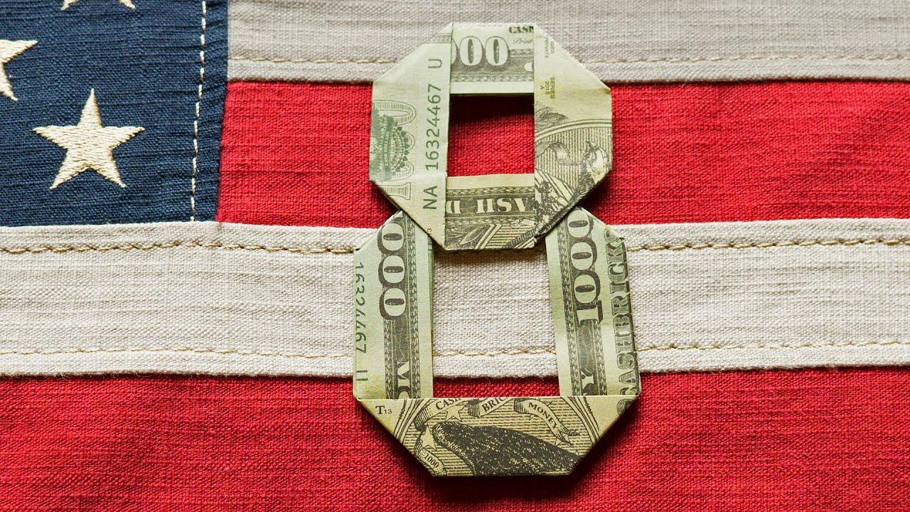 Diagram Dollar Origami Number 3