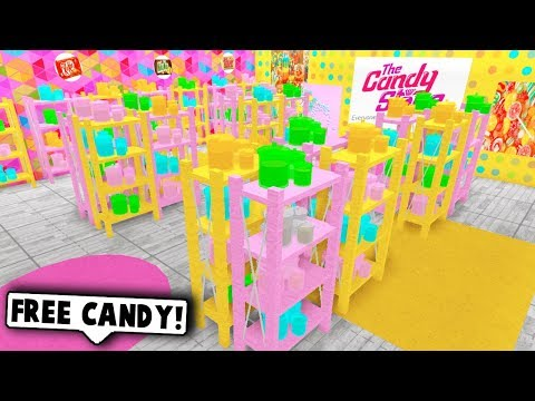 I MADE A CANDY STORE IN MY MALL ON BLOXBURG! (Roblox)