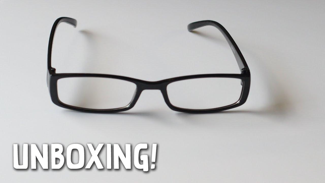 643b7b9066 Unboxing  Cheap Non Prescription Glasses - YouTube