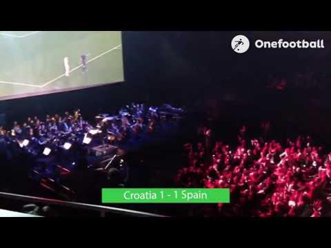 Orchestra plays for the Croatia-Spain match at the Philharmonie de Paris