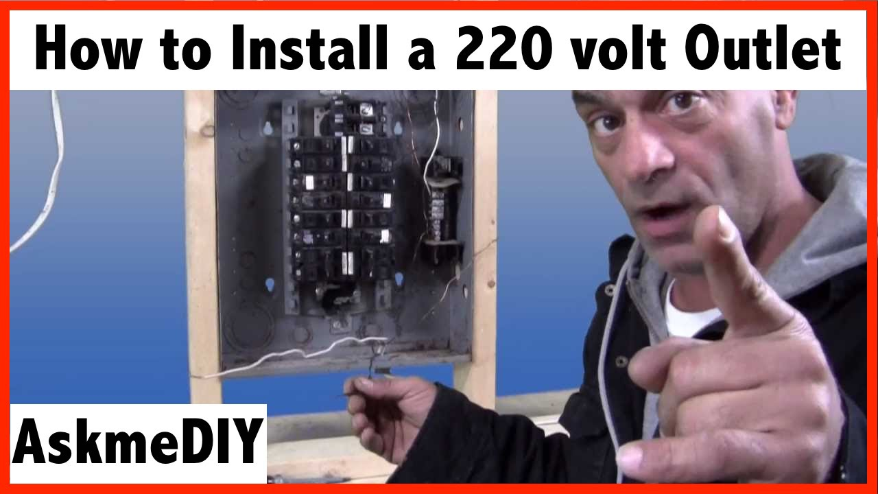 Double Light Switch With Schematic Wiring Diagram How To Install A 220 Volt Outlet Youtube