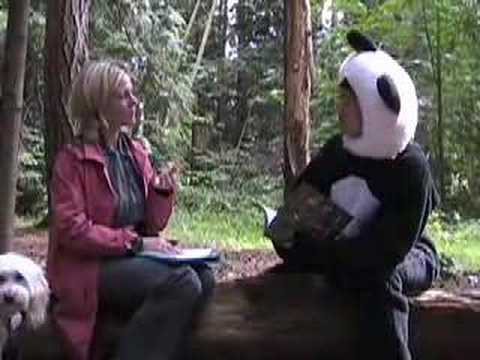 Panda speaks to Charlene Easton (UBC Sustainility)