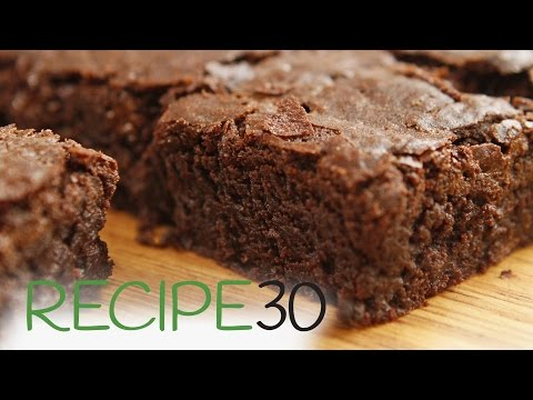BEST EVER FUDGY CHOCOLATE BROWNIES!  - By RECIPE30.com