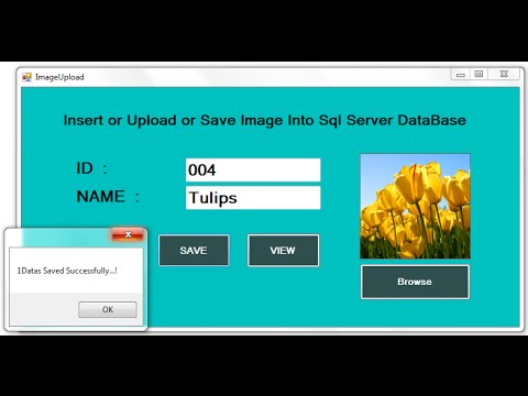 C# Upload or Insert Image into SQL DataBase