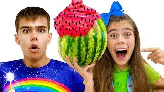 Nastya y Artem tuvieron una nueva competencia divertida para niños