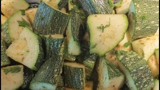 Low Fat Vegan No Oil Summer Baked Zucchini / Squash