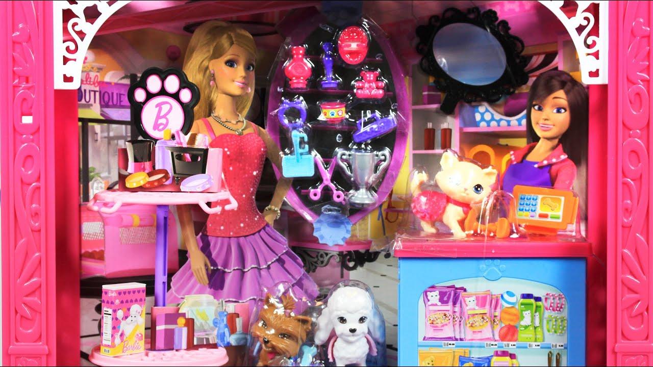 Barbie Malibu Ave Salon Barbie Doll Playset