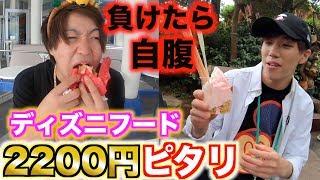 【ディズニー】ディズニーランドで2200円ピタリを目指してご飯!負けたら全額!!