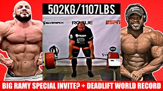 502kg Deadlift Attempt + Pros React to Big Ramy Special Invite + Chicago Pro Scores + Brandon + CBum
