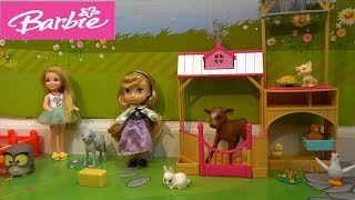 Barbie and Ken Story Making New Unicorn Dream Bedroom for Chelsea and Princess Aurora Sleepover