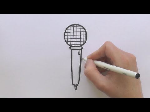 How to Draw a Cartoon Microphone