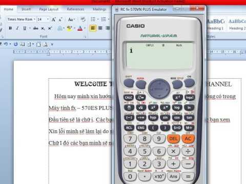 Hướng dẫn viết chữ trong máy tính CASIO fx   570ES PLUS
