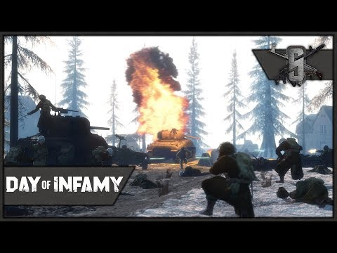 Bastogne Assault & Defense - Day of Infamy - Axis & Allies Gameplay