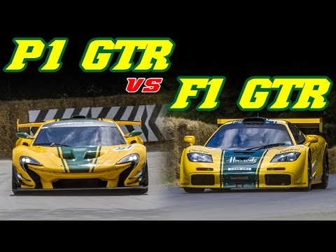 Sound comparison - McLaren F1 GTR vs P1 GTR (Goodwood FOS 2015)