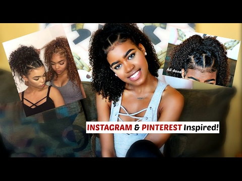 Super Cute And Easy Instagram And Pinterest Inspired Hairstyle For Curly And Natural Hai