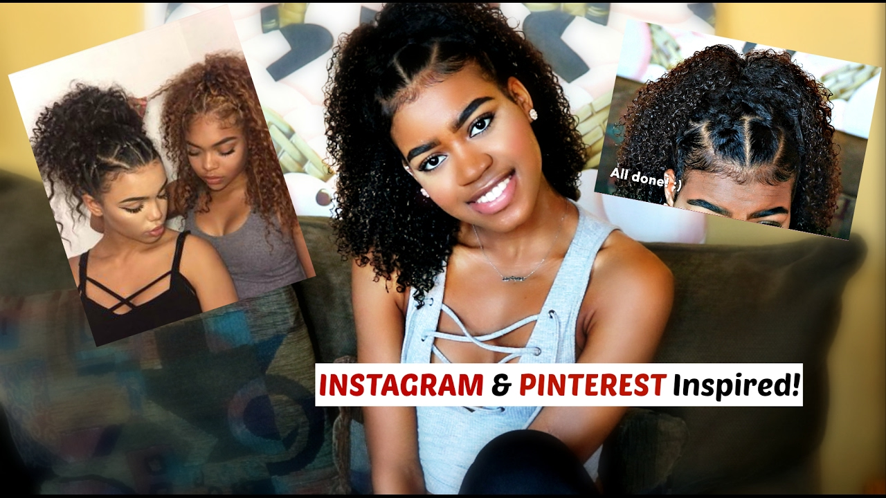 Super Cute And Easy Instagram And Pinterest Inspired Hairstyle For Curly And Natural Hair