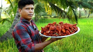 SIMPLE CRISPY CHICKEN FRY RECIPE | Cooking and eating delicious | Village Food Channel
