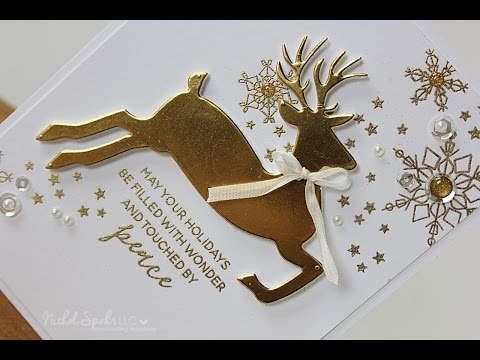 Essentials By Ellen Leaping Deer Holiday Card