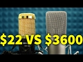 $22 MICROPHONE VS $3600 MICROPHONE