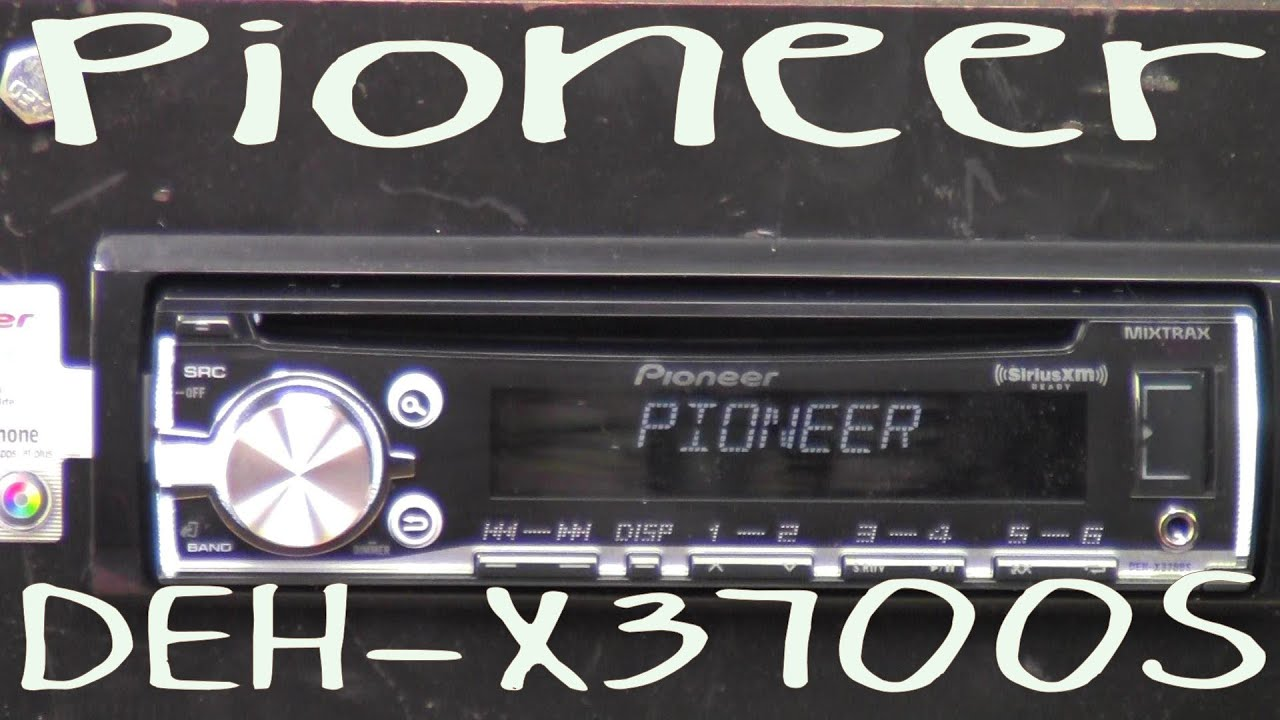 pioneer deh xs out of the box pioneer deh x3700s out of the box