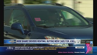 Ride-hailing drivers renting, buying new cars