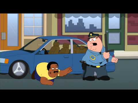 Family Guy Peter Beats Cleveland Dressed As Cop Youtube