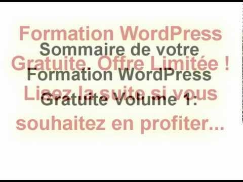 Formation WordPress Gratuite Volume 1