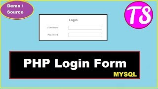 php login from -Login code in PHP -Source code