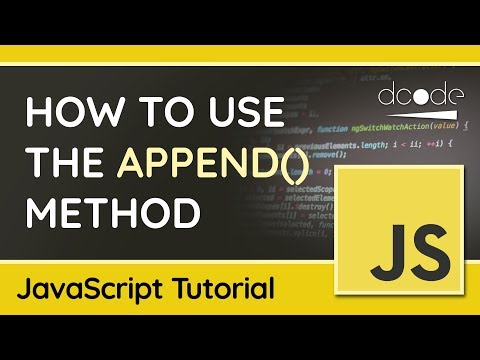 Append multiple elements at once using append() - JavaScript DOM Tutorial thumbnail