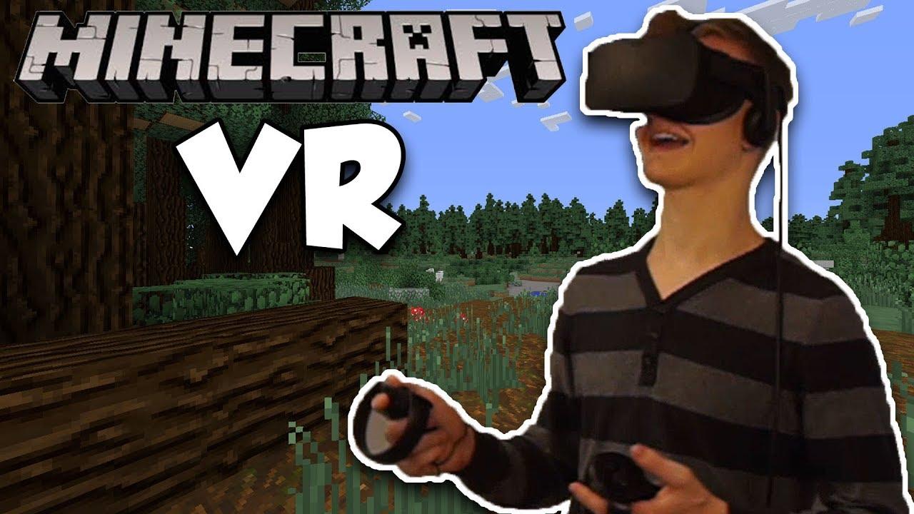 Minecraft In VR Oculus Rift Touch VR Minecraft YouTube - Minecraft vr spielen