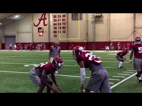 Alabama spring practice day 3: Nick Saban works with defensive backs
