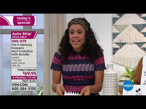 HSN | Paper Crafting Tools & Supplies 01.08.2019 - 12 AM