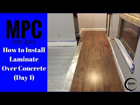 Installing Laminate Flooring Over Concrete Day  YouTube - Hardwood floor over concrete