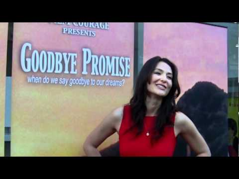 Goodbye Promise...actress Sarah Prikryl dazzles paparazzi on red carpet at World Premiere!
