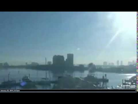 UFO or USO causing bulges on the water