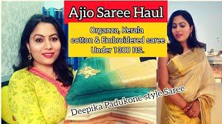 Ajio Party Wear Saree Haul   S…